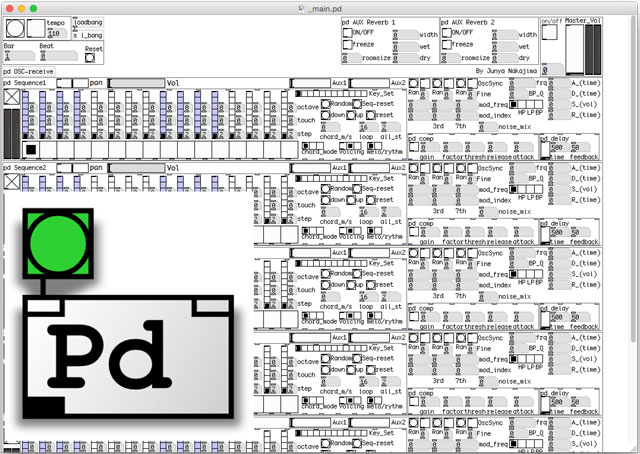 良い出来だ!と思ったPuredata extendedのライブ作曲用パッチ(ver.0)を作り直すことにしたのでここまでの仕様を公開します!