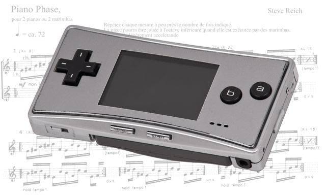 ゲームボーイ(GameBoy)でスティーヴ・ライヒの「Piano Phase(ピアノフェイズ)」動画!