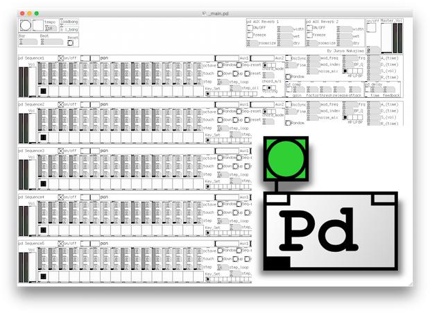 Puredata extended ライブ作曲用パッチを初めて作ったので試しに録音してみた!