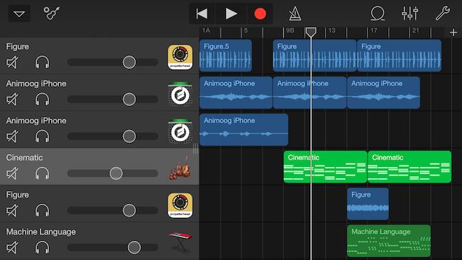 iPhoneのGarageBandで曲を作ってみた!