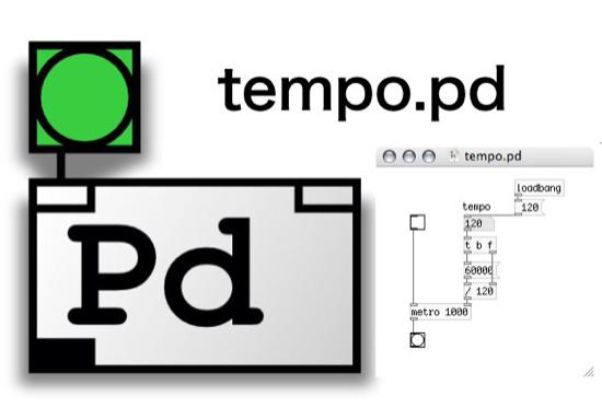 【PureData】音楽のテンポを制御するパッチに tempo.pd